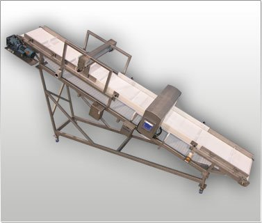 Metal Detector Inclining Conveyor